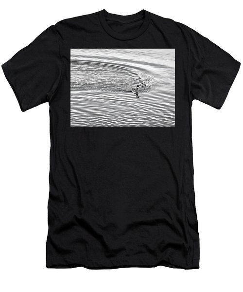 Men's T-Shirt (Slim Fit) featuring the photograph Swimming From Circles by Joe Bonita
