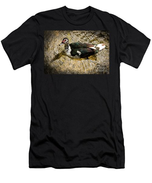 Swimming In Gold Wildlife Art By Kaylyn Franks Men's T-Shirt (Athletic Fit)