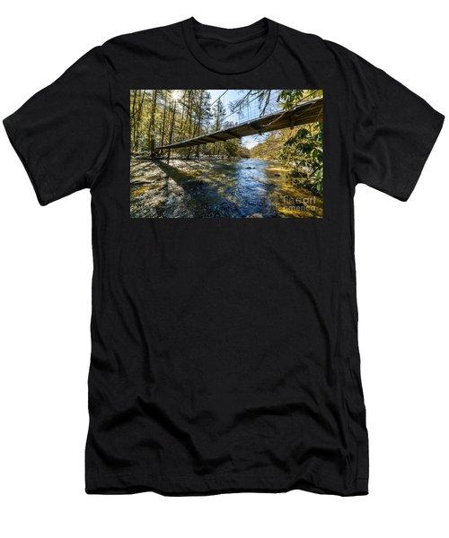 Swinging Bridge Back Fork Of Elk Men's T-Shirt (Athletic Fit)