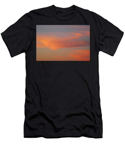 Swirling Clouds In Evening Men's T-Shirt (Athletic Fit)