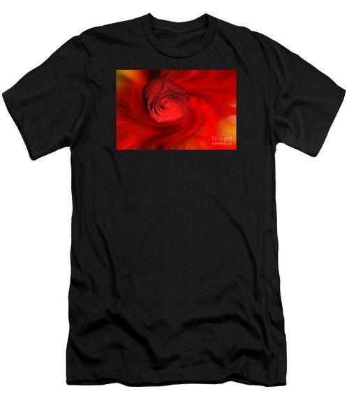 Swirling Rose Men's T-Shirt (Athletic Fit)