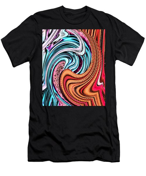 Swirly Abstract 7179a Men's T-Shirt (Athletic Fit)