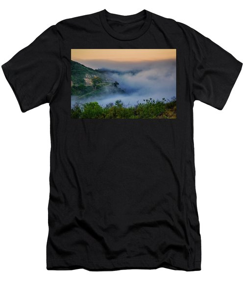Men's T-Shirt (Slim Fit) featuring the photograph Switchbacks In The Clouds by Joseph Hollingsworth