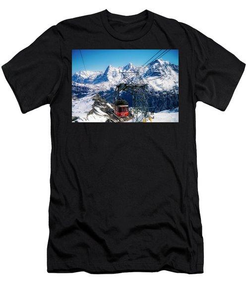 Switzerland Alps Schilthorn Bahn Cable Car  Men's T-Shirt (Athletic Fit)