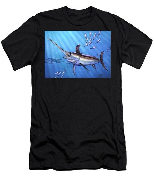 Swordfish In Freedom Men's T-Shirt (Athletic Fit)
