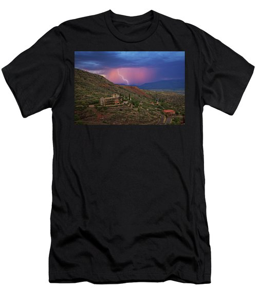 Sycamore Canyon Lightning With Little Daisy Men's T-Shirt (Athletic Fit)