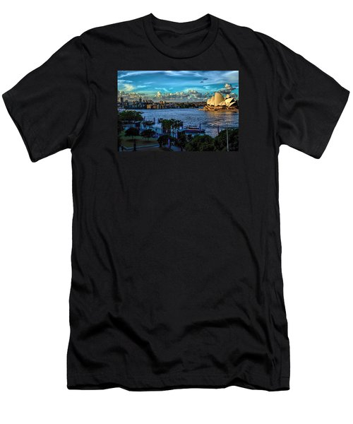 Sydney Harbor And Opera House Men's T-Shirt (Slim Fit) by Diana Mary Sharpton
