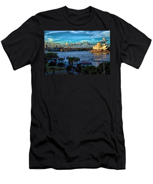Sydney Harbor And Opera House Men's T-Shirt (Athletic Fit)