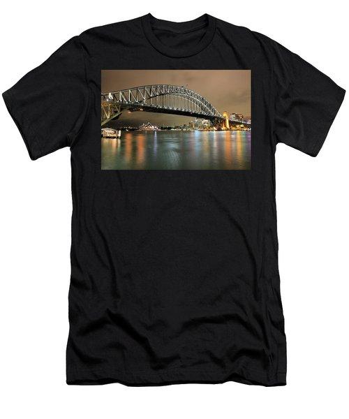 Sydney Harbour At Night Men's T-Shirt (Athletic Fit)
