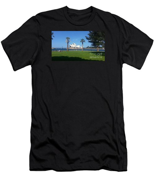 Men's T-Shirt (Slim Fit) featuring the photograph Sydney Opera House  by Bev Conover