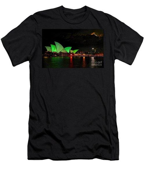 Sydney Opera House Vivid Festival Australia Men's T-Shirt (Athletic Fit)