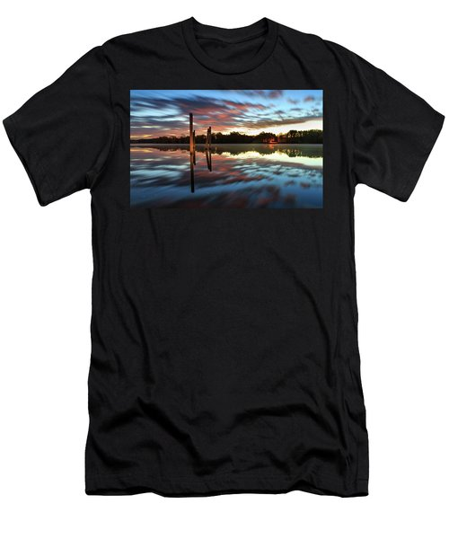 Symetry On The River Men's T-Shirt (Athletic Fit)
