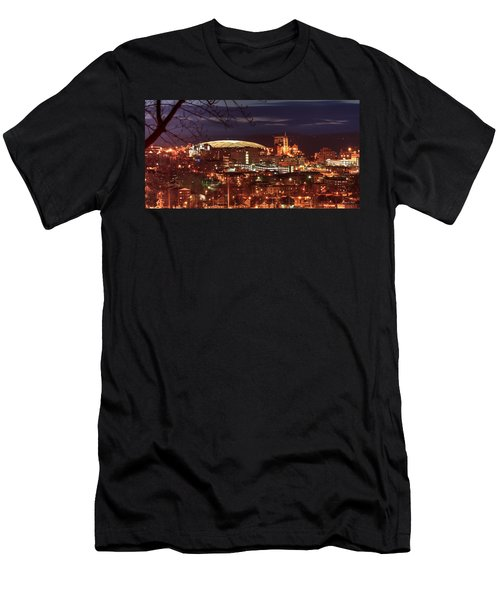 Syracuse Dome At Night Men's T-Shirt (Slim Fit) by Everet Regal