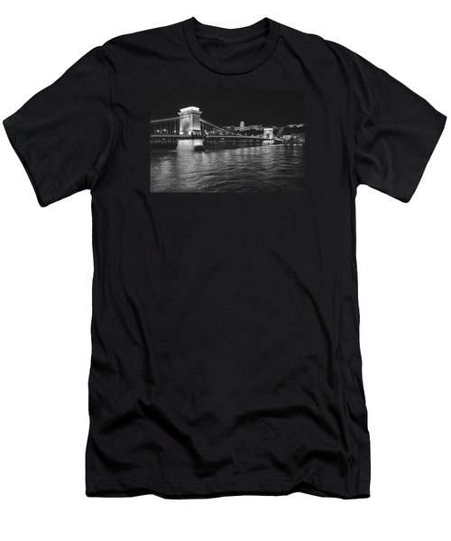 Szechenyi Chain Bridge Budapest Men's T-Shirt (Athletic Fit)