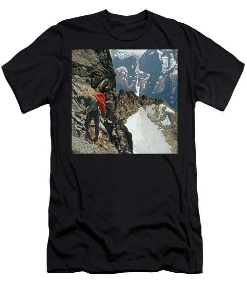 T-04403 Walt Buck Sellers On First Ascent Of Mt. Torment Men's T-Shirt (Athletic Fit)