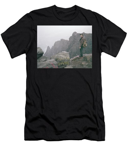 T-04701 Fred Beckey On Mt. Si 1958  Men's T-Shirt (Athletic Fit)
