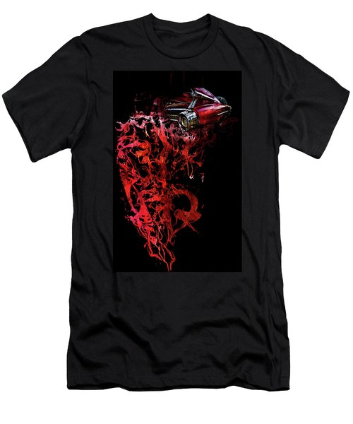 Men's T-Shirt (Athletic Fit) featuring the photograph T Shirt Deconstruct Red Cadillac by Glenda Wright