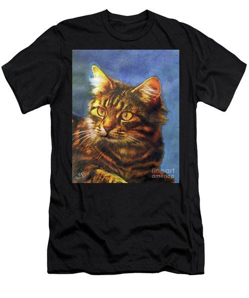 Tabby Blue Men's T-Shirt (Athletic Fit)