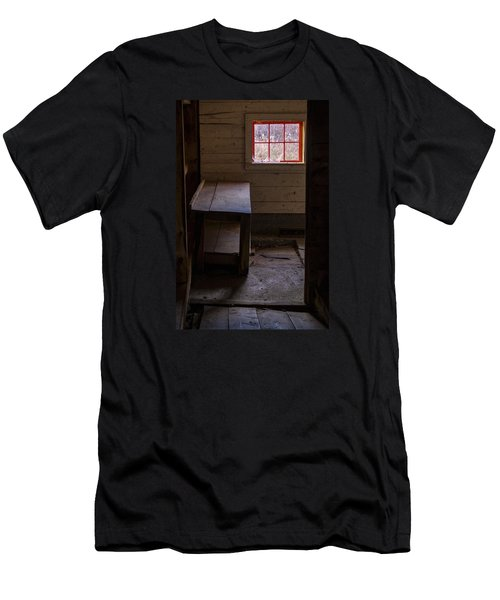 Men's T-Shirt (Athletic Fit) featuring the photograph Table And Window by Tom Singleton