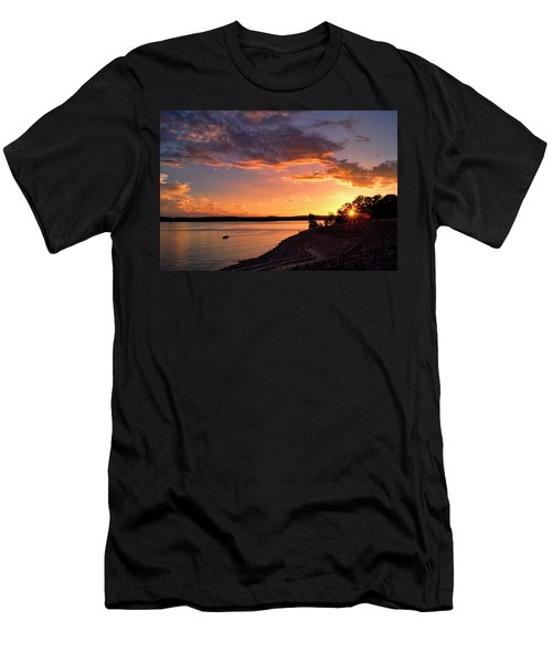 Men's T-Shirt (Slim Fit) featuring the photograph Table Rock Sunset by Cricket Hackmann