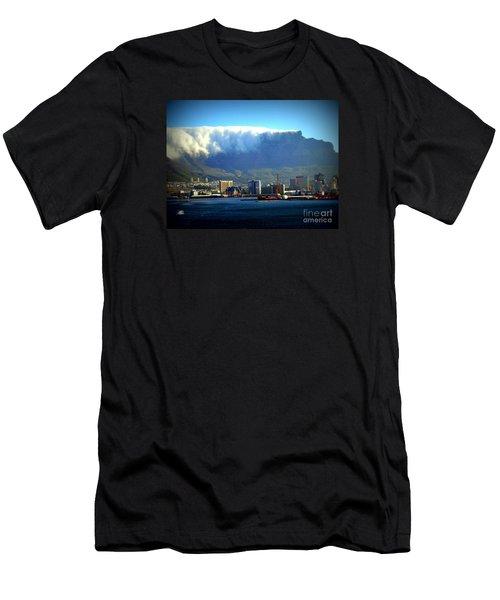 Table Rock With Cloud Men's T-Shirt (Slim Fit) by John Potts