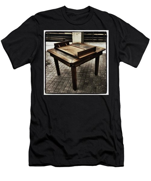 Men's T-Shirt (Athletic Fit) featuring the photograph Table That Thought. This Beautiful by Mr Photojimsf