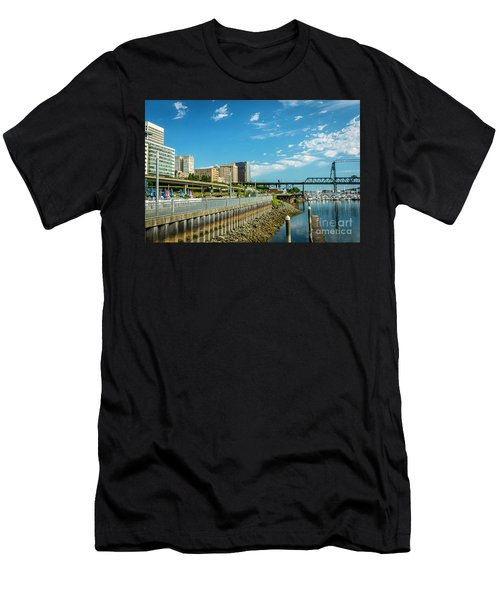 Tacoma And 11th Street Bridge Men's T-Shirt (Athletic Fit)