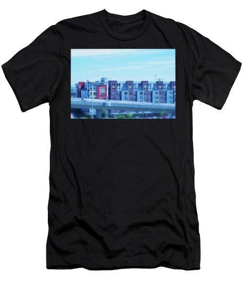 Tacoma Blues - Cityscape Art Print Men's T-Shirt (Athletic Fit)