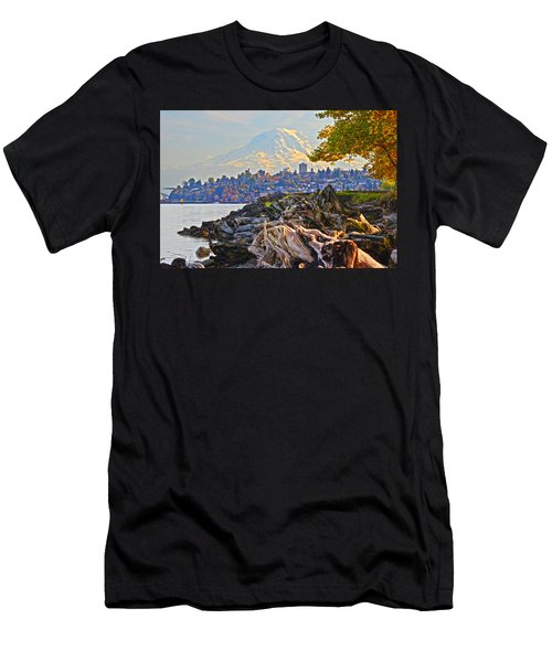 Men's T-Shirt (Slim Fit) featuring the photograph Tacoma In The Fall by Jack Moskovita