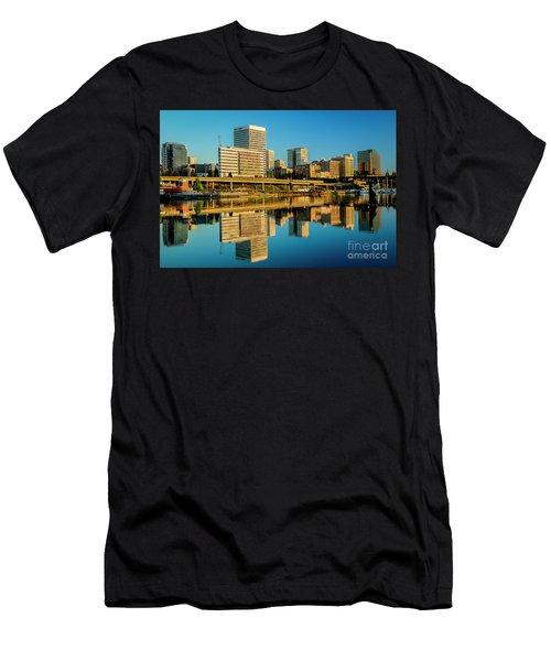 Tacoma's Waterfront,washington Men's T-Shirt (Athletic Fit)