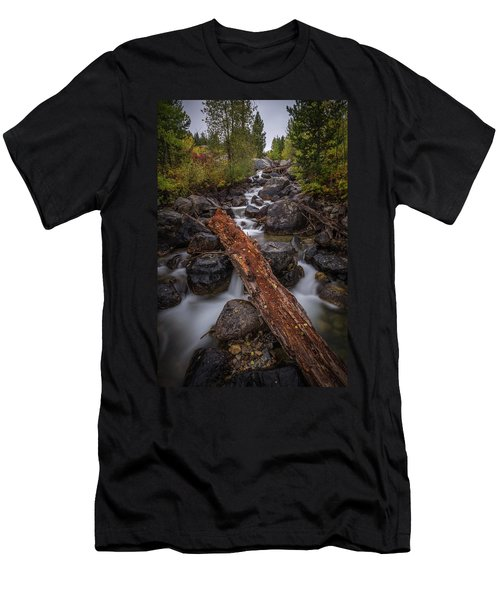 Taggert Creek Waterfall Log Men's T-Shirt (Athletic Fit)