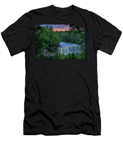 Tahquamenon Falls Sunset. Men's T-Shirt (Athletic Fit)