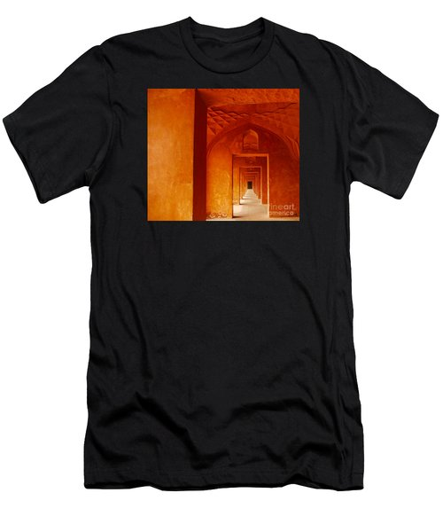 Men's T-Shirt (Athletic Fit) featuring the photograph Doors Of India - Taj Mahal by Miles Whittingham