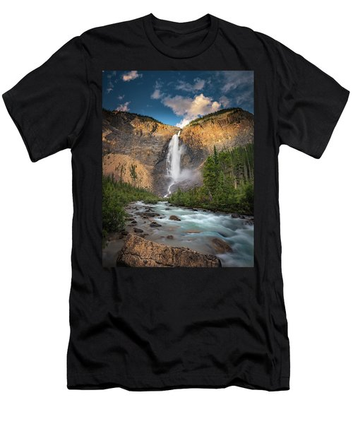 Men's T-Shirt (Athletic Fit) featuring the photograph Takakkaw Falls Of Yoho National Park by William Lee