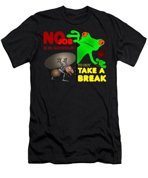 Take A Break Men's T-Shirt (Slim Fit) by Felikss Veilands