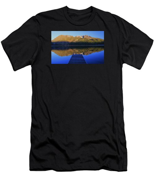 Men's T-Shirt (Slim Fit) featuring the photograph Take A Long Walk Off A Short Pier  by Sean Sarsfield