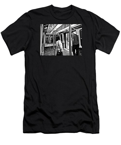 Take The A Train Men's T-Shirt (Slim Fit) by Artists With Autism Inc