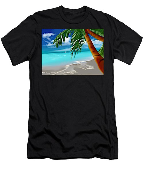 Takemeaway Beach Men's T-Shirt (Athletic Fit)