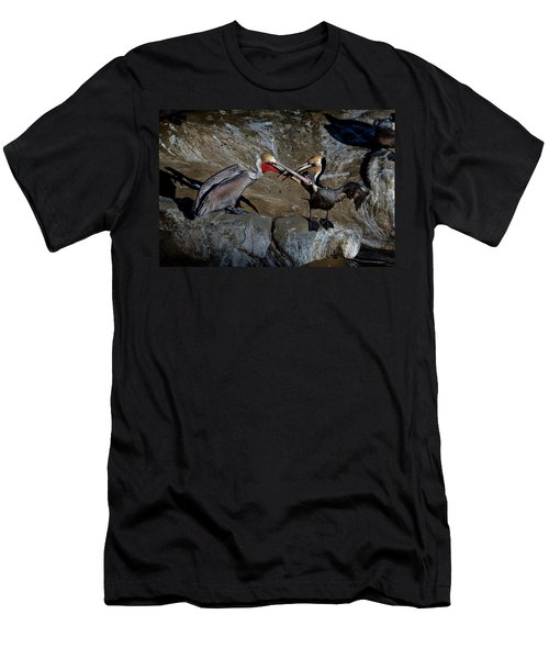 Taking A Bite Men's T-Shirt (Slim Fit) by James David Phenicie
