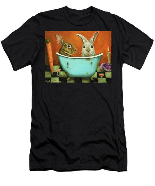 Tale Of Two Bunnies Men's T-Shirt (Athletic Fit)
