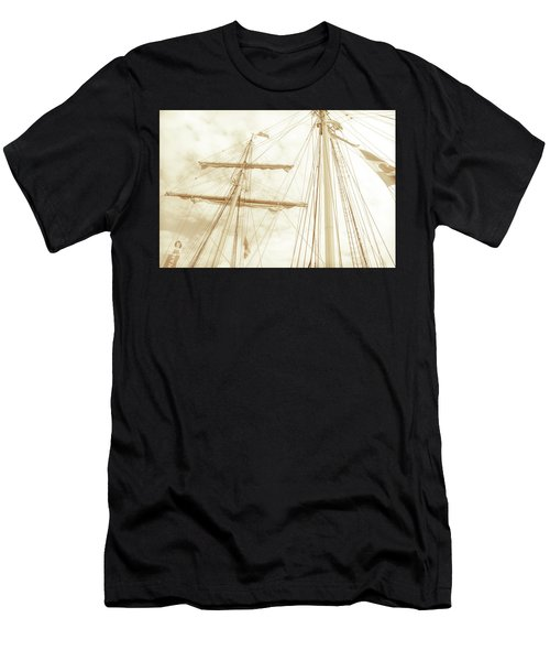 Tall Ship - 1 Men's T-Shirt (Athletic Fit)