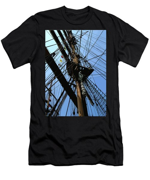 Tall Ship Design By John Foster Dyess Men's T-Shirt (Athletic Fit)
