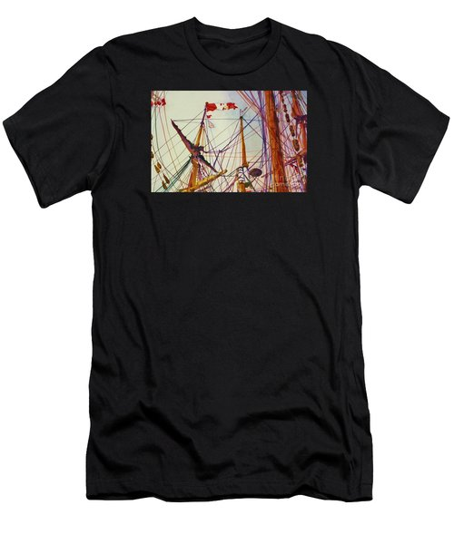 Tall Ship Lines Men's T-Shirt (Athletic Fit)