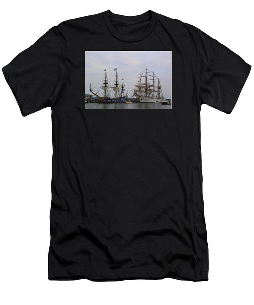 Historic Tall Ships Hermione And Sagres Men's T-Shirt (Athletic Fit)