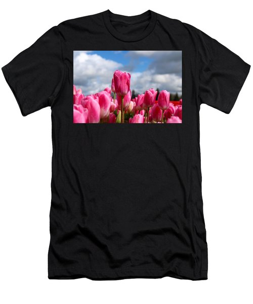 Tall Standing Tulip Men's T-Shirt (Athletic Fit)