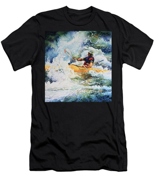 Men's T-Shirt (Athletic Fit) featuring the painting Taming Of The Chute by Hanne Lore Koehler