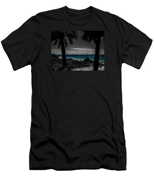 Tampa Bay Blue Men's T-Shirt (Slim Fit) by Randy Sylvia