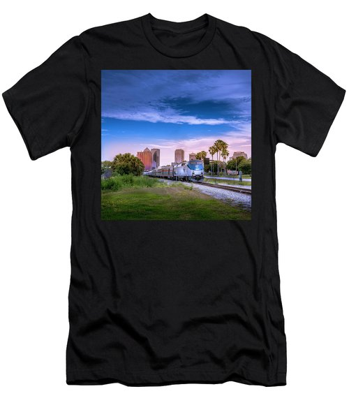 Men's T-Shirt (Slim Fit) featuring the photograph Tampa Departure by Marvin Spates