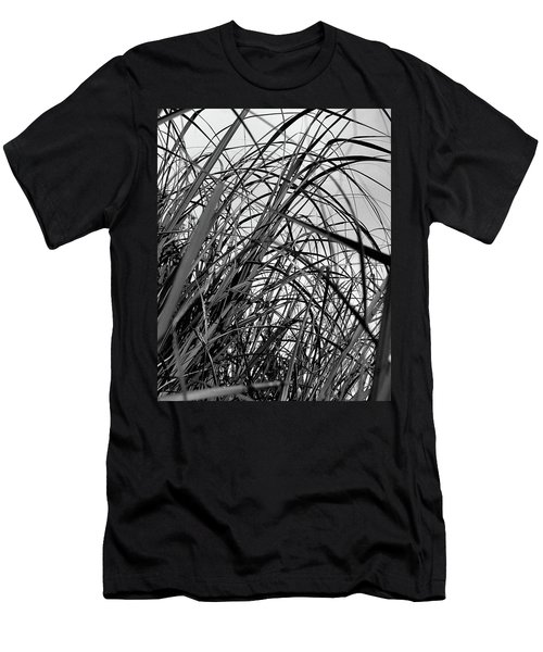 Men's T-Shirt (Slim Fit) featuring the photograph Tangled Grass by Susan Capuano