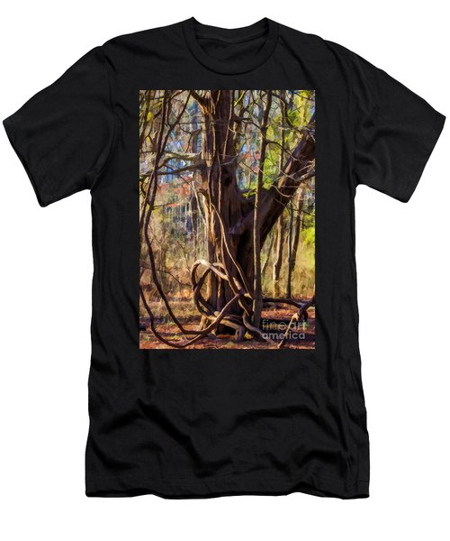 Tangled Vines On Tree Men's T-Shirt (Athletic Fit)